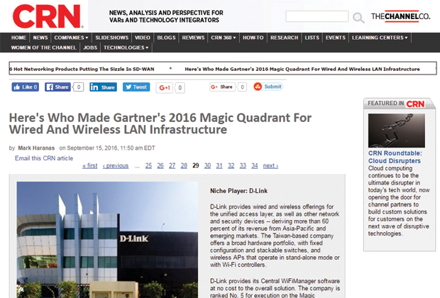 D-Link in CRN Magic Quadrant Feature | D-Link Business Blog