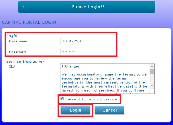 Figure 4. Login Prompt of Captive Portal