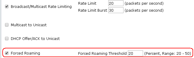 Image - Forced Roaming Settings